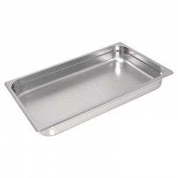 Bac GN 1/1 inox professionnel Vogue 40mm