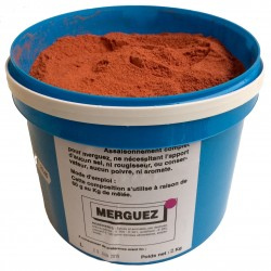 Merguez forte rouge intense